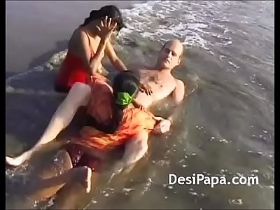 Indian Teens Gangbang Threesome Group Sex On Beach