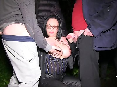 MILF Dogging in Public Woods